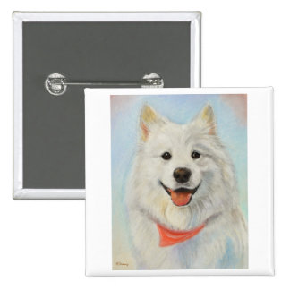 Samoyed Painting Buttons