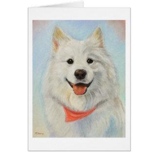 Samoyed Painting Card