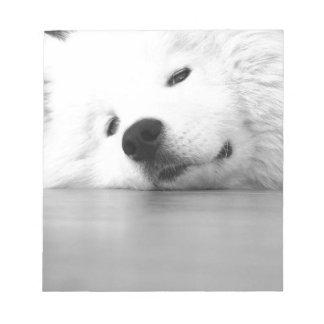Samoyed Photo Dog White Notepad
