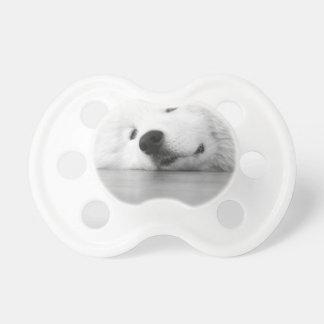 Samoyed Photo Dog White Pacifier