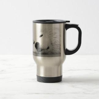Samoyed Photo Dog White Travel Mug