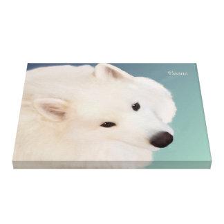 "Samoyed Portrait  24."" x 16.""x 1.5"" Wrapped Canvas"