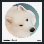 """Samoyed Portrait Painting;  Custom Wall Decal<br><div class=""""desc"""">Walls 360 Custom Wall Decal. Sticks &amp; Unsticks many,  many times with no damage to wall or decal.   Samoyed Portrait Painting;  Custom Wall Decal DesignsbyLee All proceeds from the sale go to NSR: National Samoyed Rescue,  501(c)3 NSR website:http://www.samoyedrescue.org   Zazzle Store https://www.zazzle.com/rescueartbylee?rf=238193063474731397</div>"""