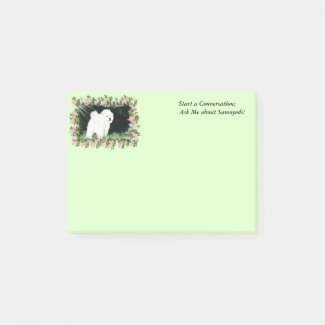 Samoyed Post-it® Notes 4 x 3 with Message
