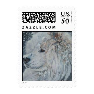 Samoyed postage stamp