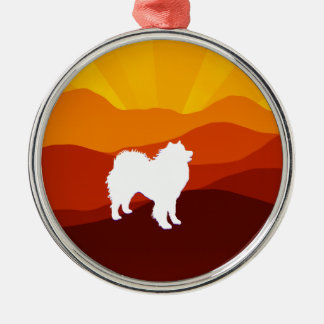 Samoyed Premium Round Ornament; Choice of Shapes Metal Ornament