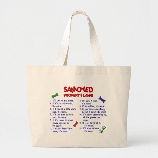 SAMOYED Property Laws 2 Large Tote Bag