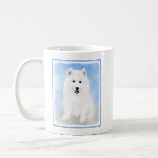 Samoyed Puppy Painting - Cute Original Dog Art Coffee Mug