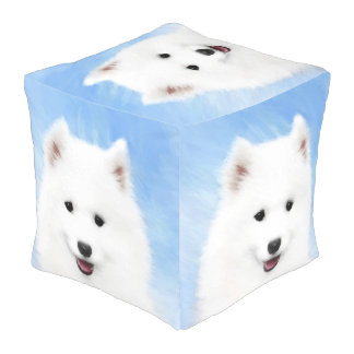 Samoyed Puppy Pouf