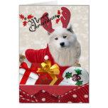 Samoyed Reindeer Merry Christmas Cards