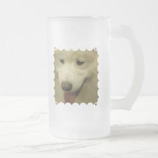 Samoyed Rescue Frosted Beer Mug