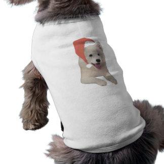 Samoyed Santa Hat Shirt