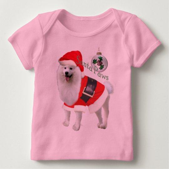 Samoyed Santa paws apparel Baby T-Shirt