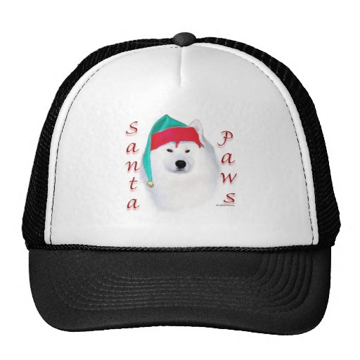 Samoyed Santa Paws Trucker Hat