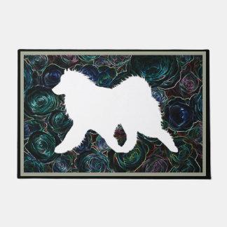 """Samoyed Side Gait 24""""x36""""  Exquisite Door Mat"""