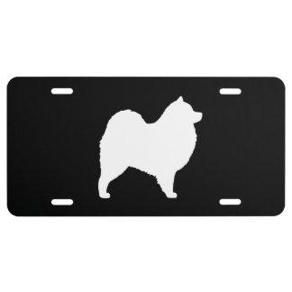 Samoyed Silhouette License Plate