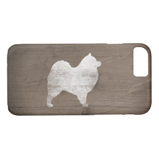 Samoyed Silhouette Rustic iPhone 7 Case
