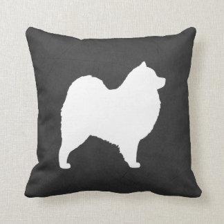 Samoyed Silhouette Throw Pillow