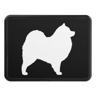 Samoyed Silhouette Trailer Hitch Cover