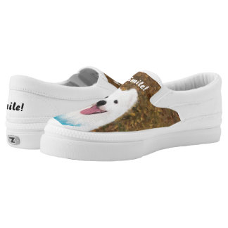 "Samoyed ""Smile"" Slip On Shoes, US Men/ Women Sizes"