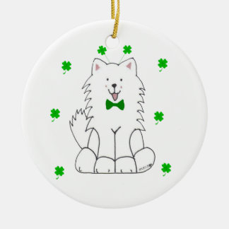 Samoyed St Patricks Day Ornament