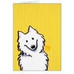Samoyed Sunshine Stripes Greeting Card