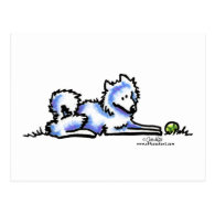 Samoyed Time Out Postcard