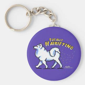 Samoyed Totally Hairifying Basic Round Button Keychain