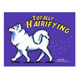 Samoyed Totally Hairifying Postcard