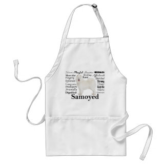 Samoyed Traits Barbeque/Grooming Apron