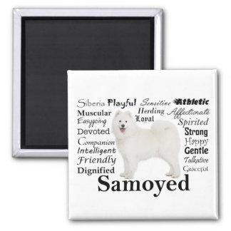 Samoyed Traits Magnet
