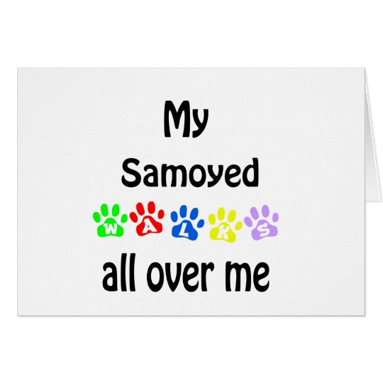 Samoyed Walks Design Card