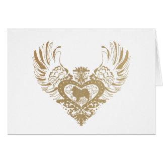 Samoyed Winged Heart Card