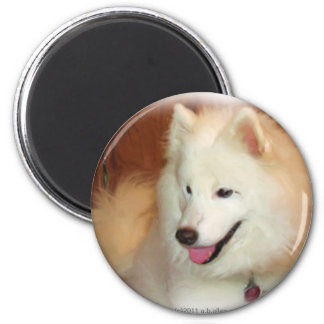 Samoyed with Digital Oil Painting Effects Magnet