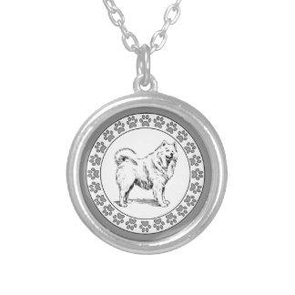 Samoyed with Pawprints Custom Jewelry