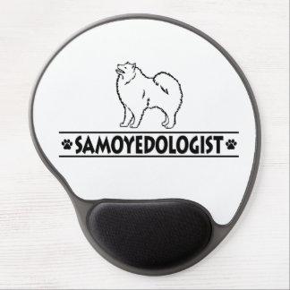 Samoyedo chistoso alfombrilla de ratón con gel