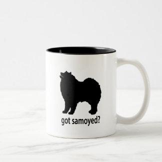 Samoyedo conseguido taza