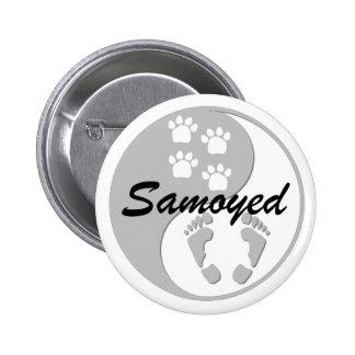 samoyedo de yang del yin pins