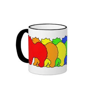 Samoyedo del arco iris taza