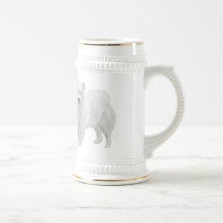 Samoyedo hermoso tazas