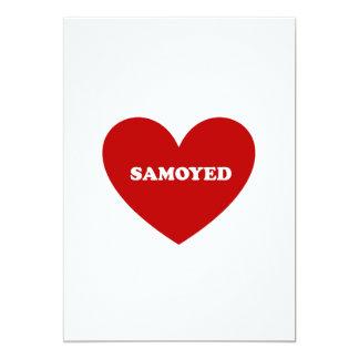 """Samoyedo Invitación 5"""" X 7"""""""