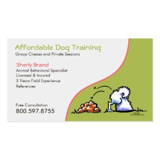 Samoyedo travieso del negocio del mascota del adie tarjetas de visita