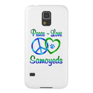 Samoyedos del amor de la paz fundas para galaxy s5