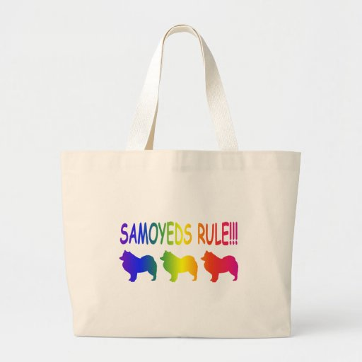 Samoyeds Rule Tote Bags