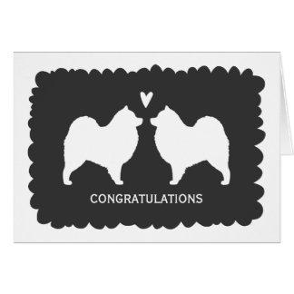 Samoyeds Wedding Congratulations Card
