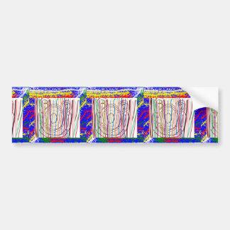 SAMPADA Kids Abstract : LINE ART Spectrum Car Bumper Sticker