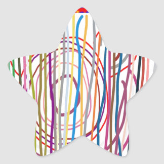 SAMPADA Kids Abstract : LINE ART Spectrum Star Sticker