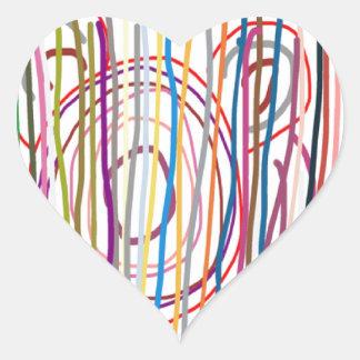SAMPADA Kids Abstract : LINE ART Spectrum Heart Sticker