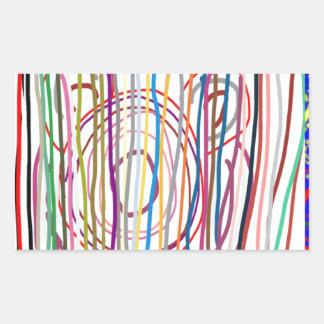 SAMPADA Kids Abstract : LINE ART Spectrum Rectangular Sticker