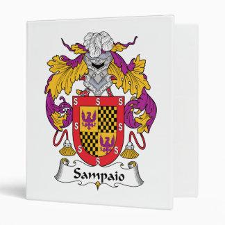 Sampaio Family Crest 3 Ring Binder